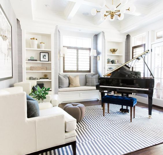 extraordinary living room piano idea | Abby Manchesky Interiors: A Playroom Transformation Plan