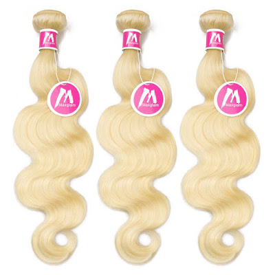 8A Premium Hair Weave Brazilian Hair Bundles Body Wave Blonde 613      [alt text]blonde weave