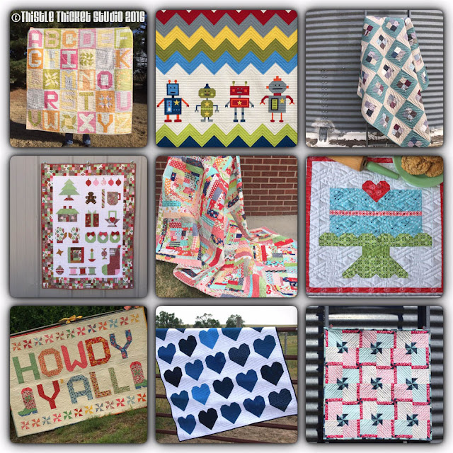 Thistle Thicket Studio, best nine quilt finishes 2016,