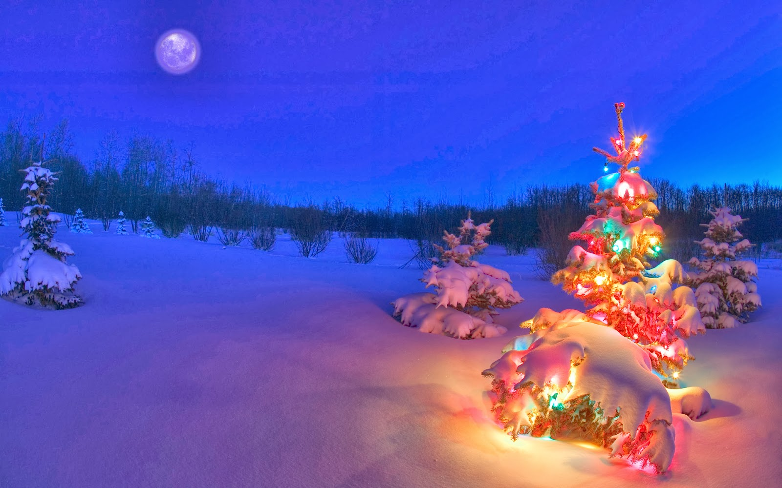 Snowy night background hd wallpapers blog - Holiday wallpaper hd ...