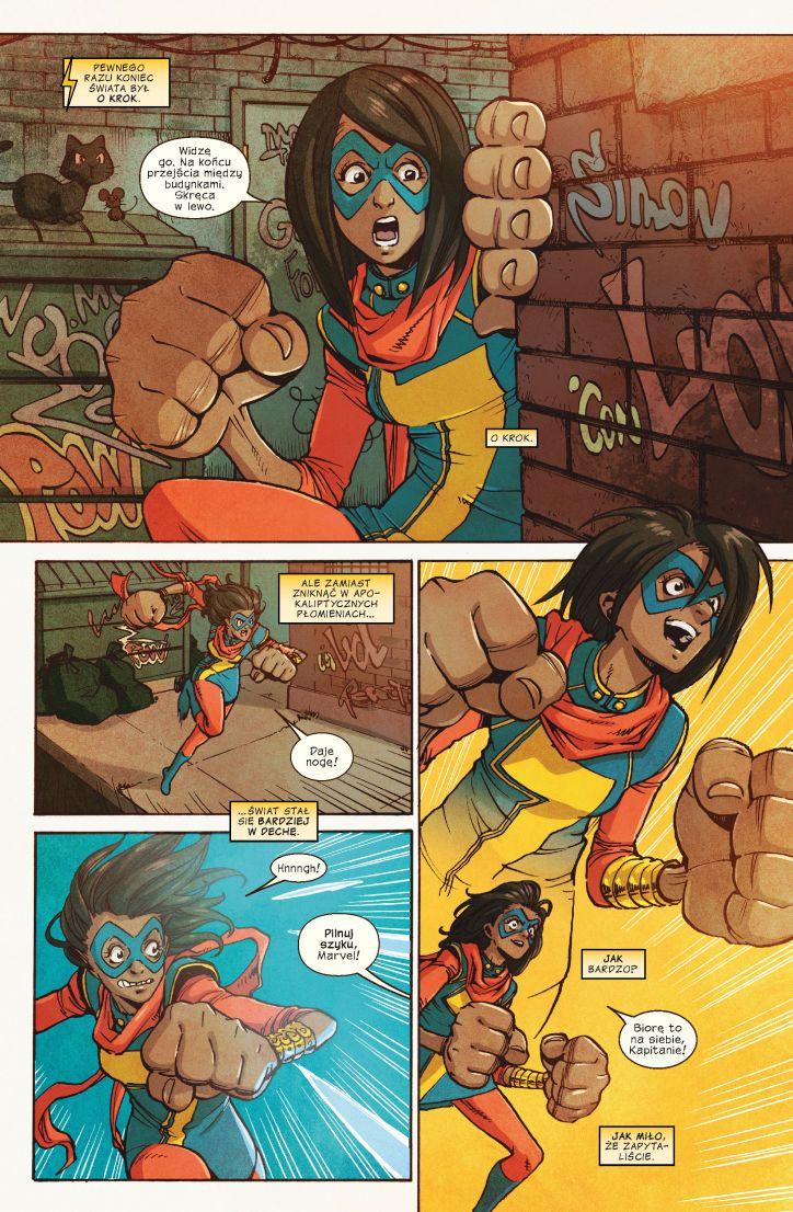 Ms Marvel tom 5 przykładowa strona