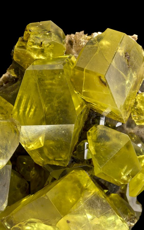 Sulfur with Hydrocarbon inclusions from Cozzodisi Mine, Sicily, Italy