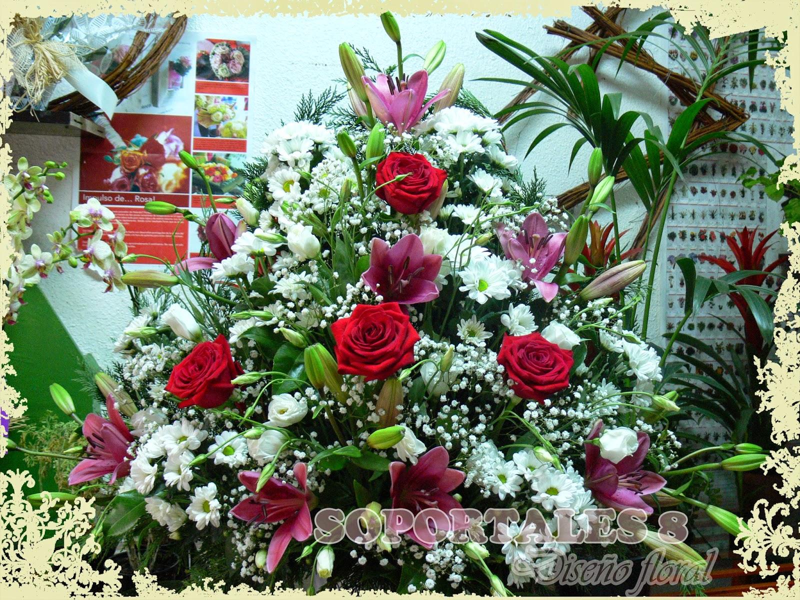 Centro De Flores Naturales Fotos