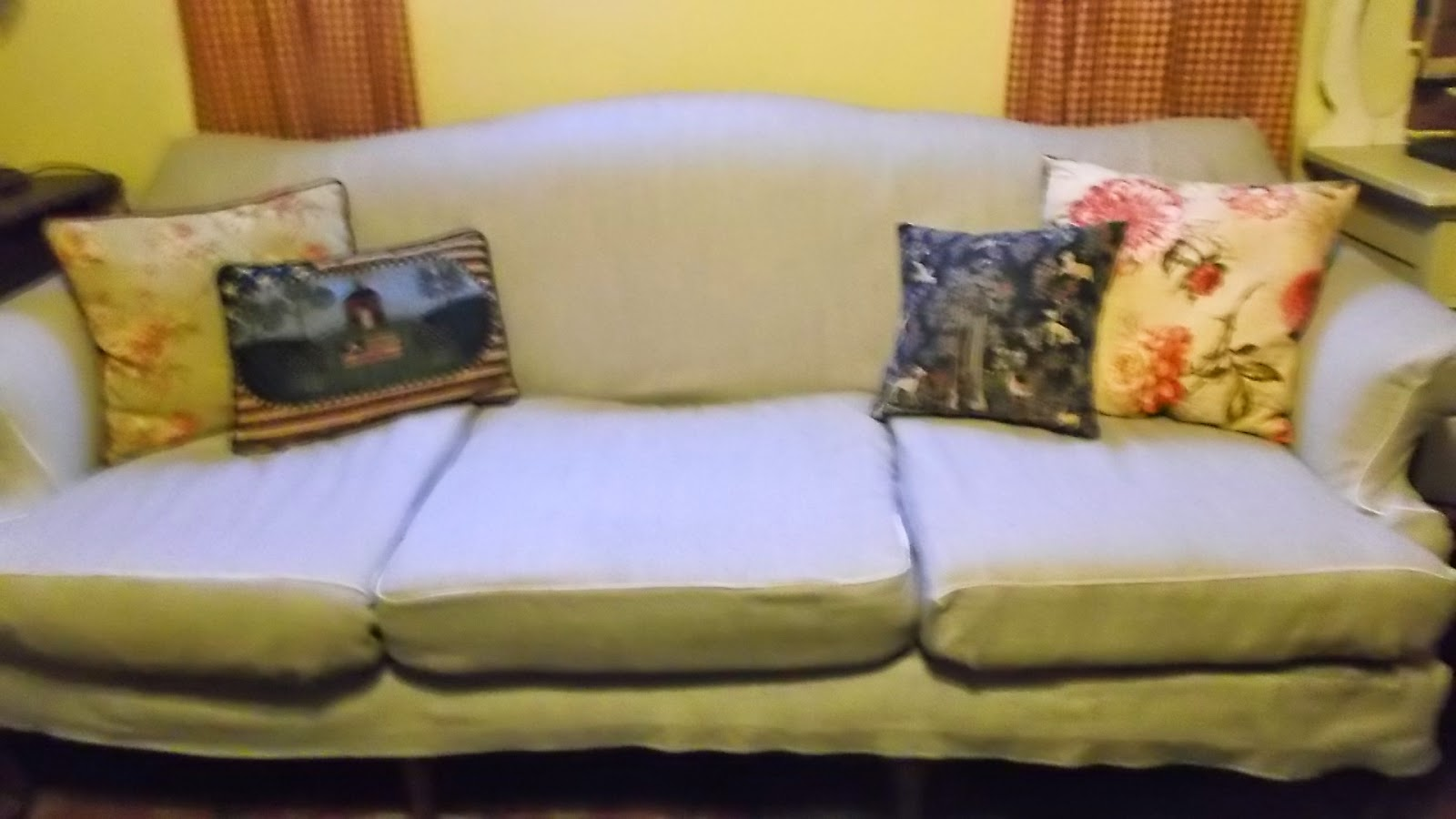 Camel Back Sofa Slipcover Part 2