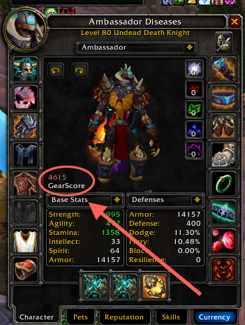 add on wow 3.3.5 gearscore