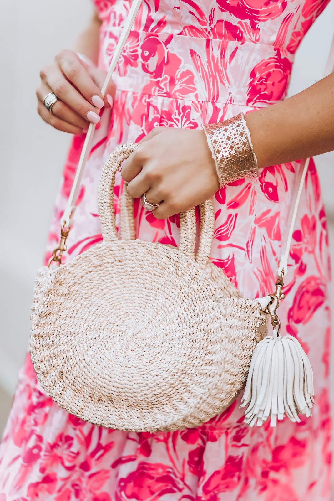 Lilly Pulitzer Melody Maxi Dress + Clare V. Mini Alice in Charleston, SC. - Something Delightful Blog