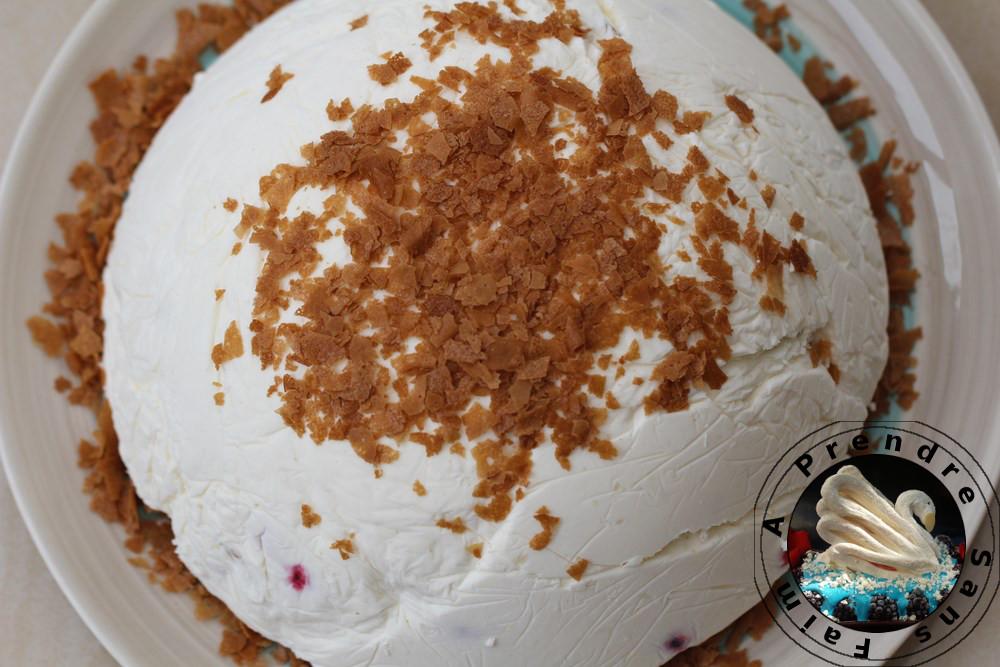 Gâteau sans cuisson aux cerises
