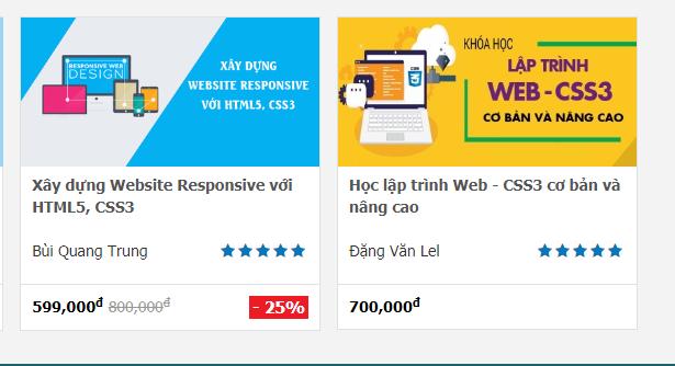 KHÓA HỌC: HỌC LẬP TRÌNH WEB - CSS3 CƠ BẢN VÀ NÂNG CAO