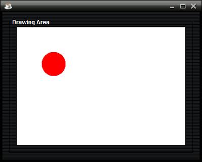 Membuat Lingkaran Merah dengan Java Netbeans - Aplikasi Grafik