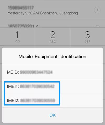 Cara Menemukan Nomor IMEI Xiaomi Dengan Dial