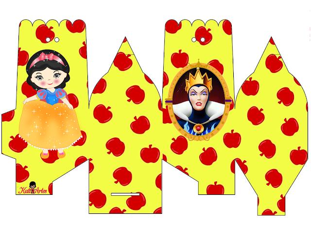 Snow White Party Free Printable Treat Boxes.