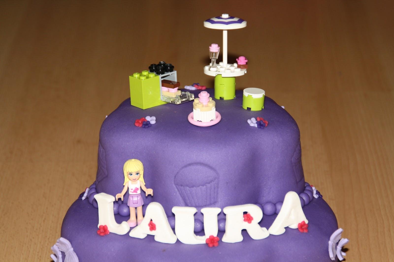 Uitzonderlijk Karin's Taarten: Lego Friends- taart #KI96