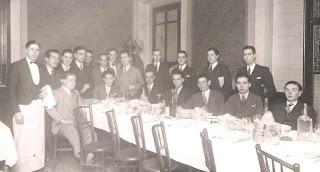 Cena conmemorativa del III Campeonato del Club Ajedrez Manresa en 1931