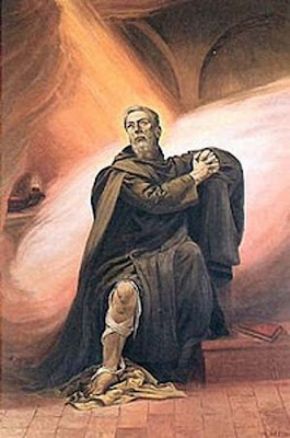 San Peregrino mostrando su pierna herida