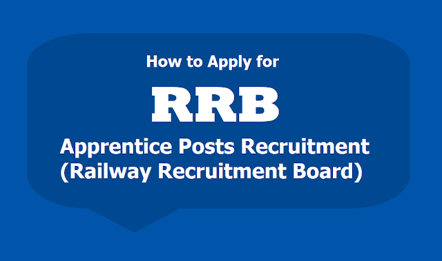 How to Apply for RRB Apprentice Posts Recruitment 2019 (Railway Recruitment Board)