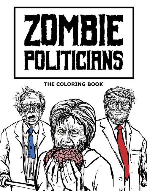 Zombie Politicians: il libro da colorare
