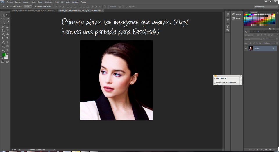 Tutorial Photoshop. Pintar algunas partes de fotos en B&N