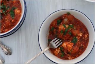Shrimp w/ Feta & Tomatoes (Garides Saganaki)