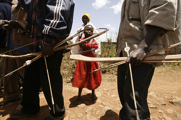 Kenyan Tribes Wage A War With Bows And Arrows