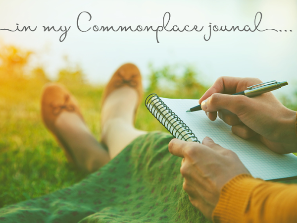 in my Commonplace journal . . .