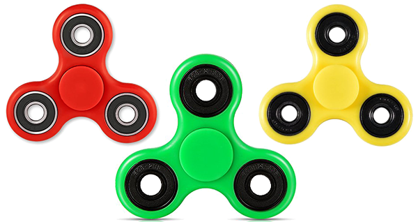 3 Transparent Fidget Spinners