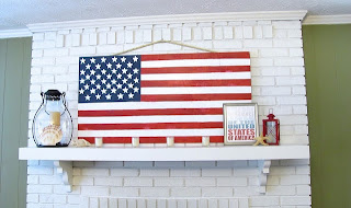 DIY plywood American flag