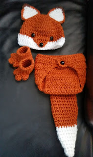 Crochet Newborn Fox Outfit