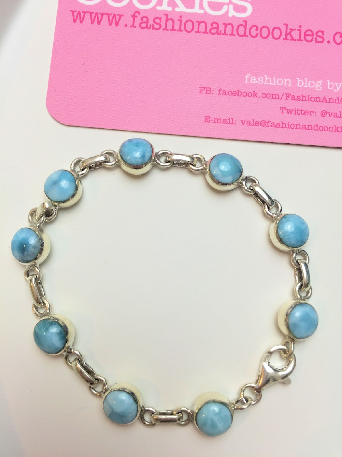 Larimar stone jewelry, Larimar bracelet in sterling silver on Fashion and Cookies fashion blog, fashion blogger style