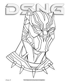 black panther coloring pages - dsng 39 s sci fi megaverse black panther helmet mask