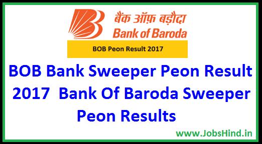 BOB Sweeper Peon Result 2017