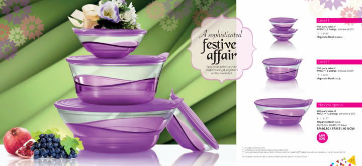Set Level Tupperware, Set Eksklusif Buruan Peminat dan Sale Force Tupperware