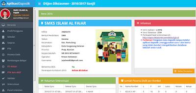 Tampilan Aplikasi Dapodik 2016