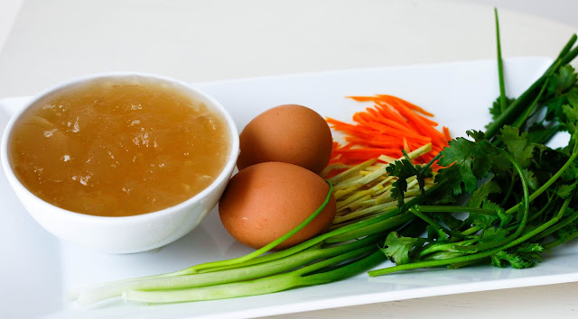 Ginger, Turmeric & Egg Soup - A great way to serve bone broth