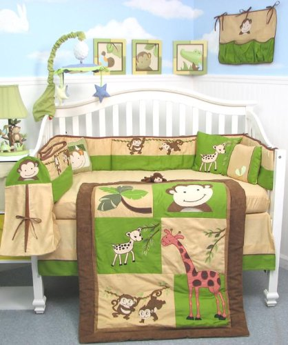Jungle Theme Baby Bedding