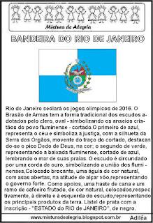 Texto: bandeira do Rio de Janeiro