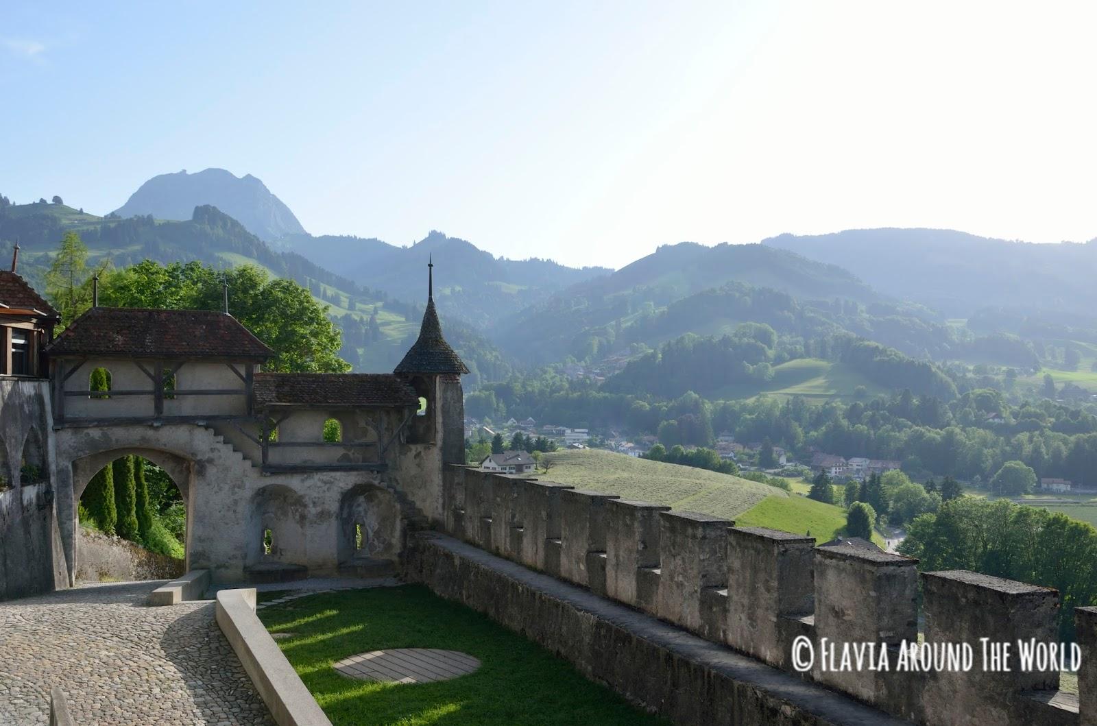 Vista desde las murallas de Gruyeres