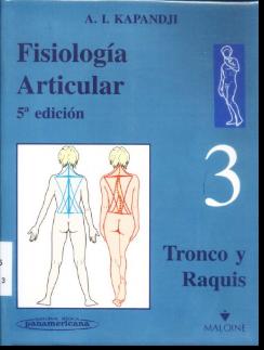Livre : Physiologie Articulaire - A. I. Kapandji (en Espagnol)