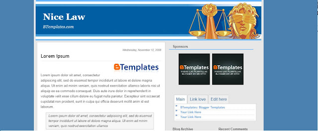 nice law education responsive blogger template