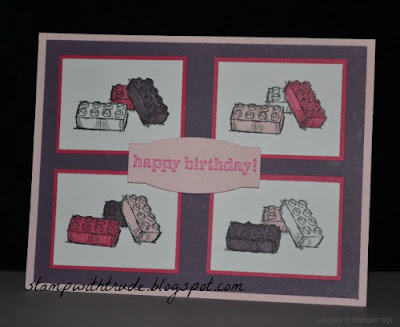 Stampin' Up!, http://stampwithtrude.blogspot.com, Trude Thoman, Boys Will Be Boys stamp set, girls birthday card, Tuesday Tutorial