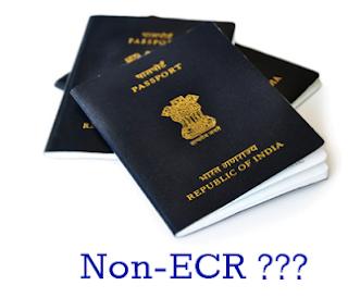 NoN-ECR Category in Passport