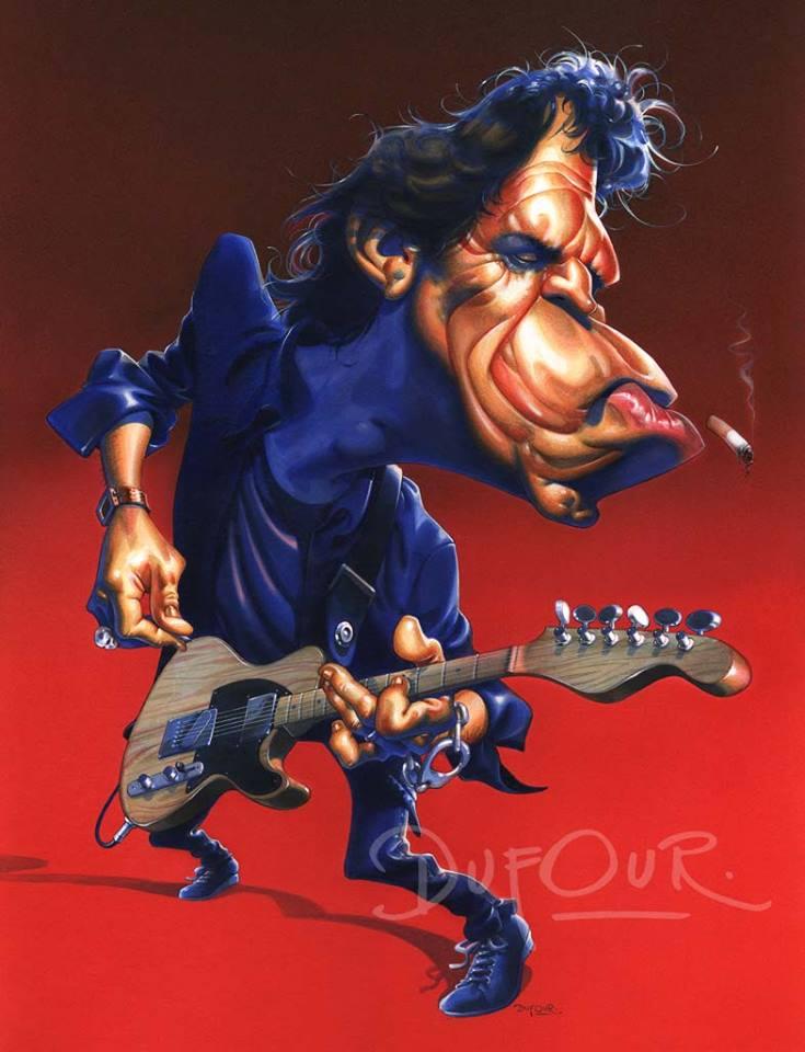 Keith Richards por Santiago Dufour