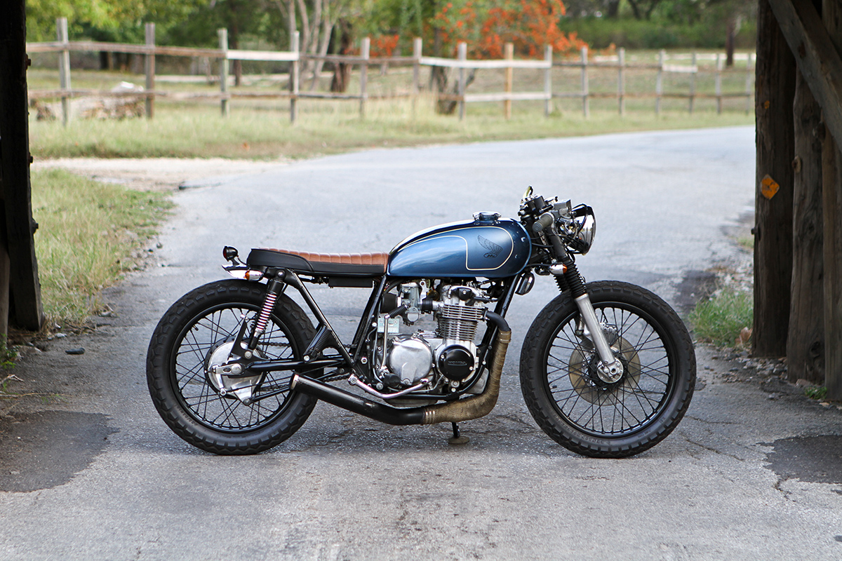 brotherly build - honda cb550 cafe racer ~ return of the cafe racers