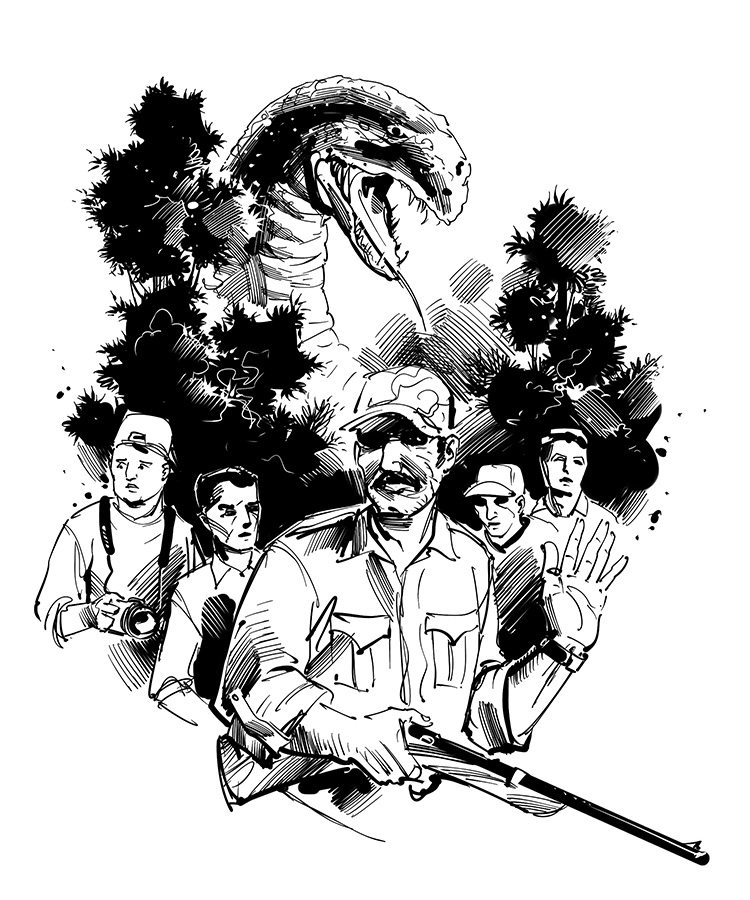 dinosaur adventure story black and white sketch drawing
