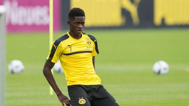 Ousmane Dembele akivalia pamba na Borrusia Dortmund kwenye moja wapo ya mechi za kuwinda ligi kuu Ujerumani, Bundesliga. Picha/Getty Images