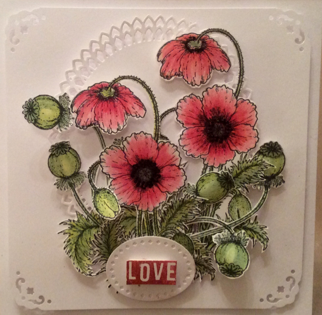 Poppy Card by Clare Charvill Heartfelt Creations Spectrum Noir