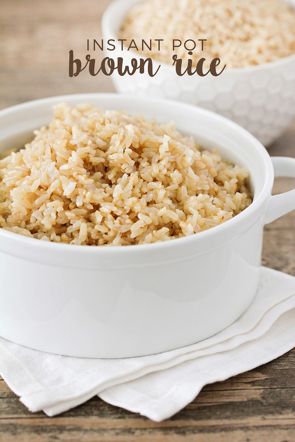 This instant pot brown rice cooks in just 22 minutes and is so light and fluffy!