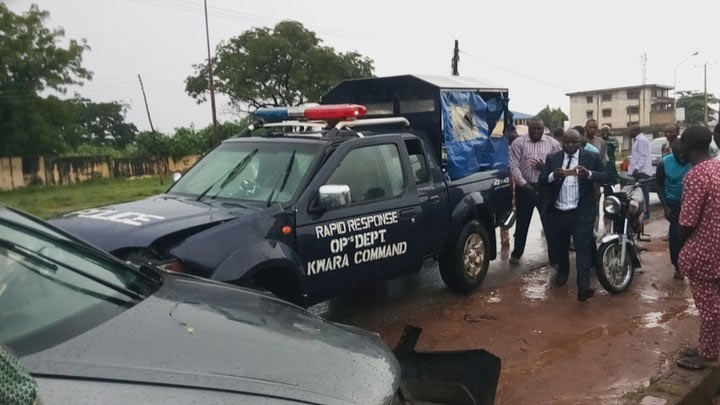 Police van rams into lawyer's car in Illorin this morning