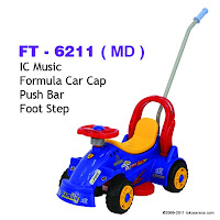 Ride-on Car FAMILY FT6211 Fortmula Musik dan Tongkat Dorong
