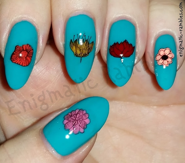 Stamped-Flower-Floral-Nails-Nail-Art
