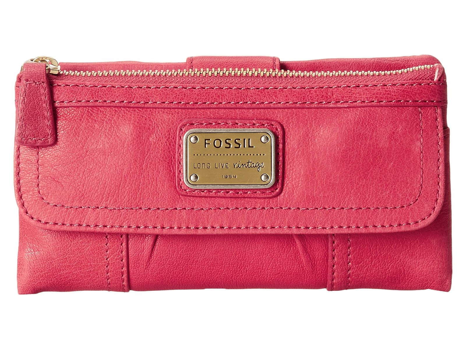 USA Boutique: Fossil Emory Leather Clutch Wallet